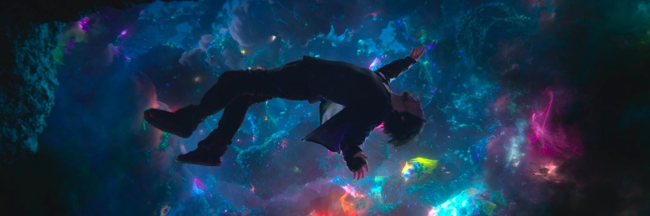 image from doctor strange of man floating through space