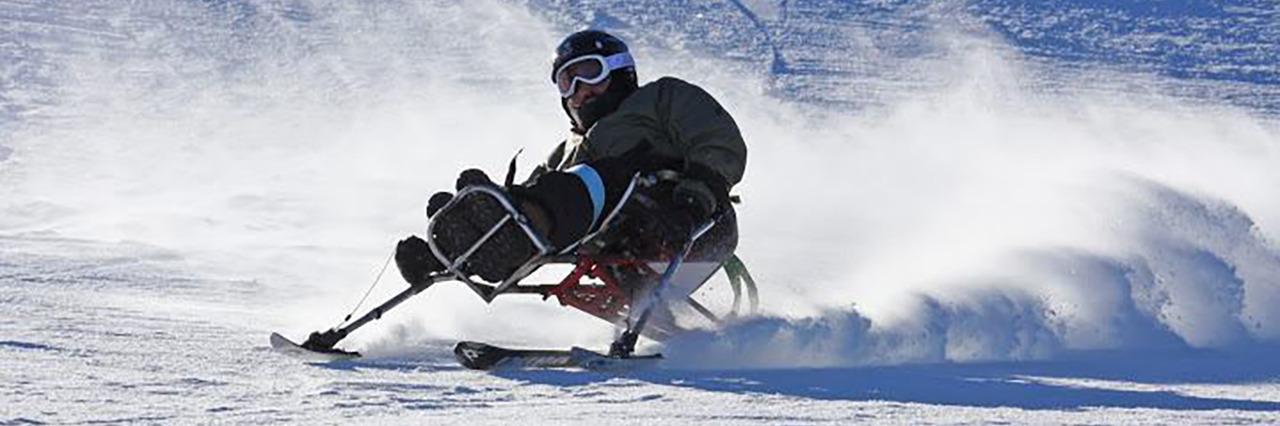 Enock skiing.