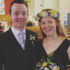 Contributor with her brother at a friend's wedding