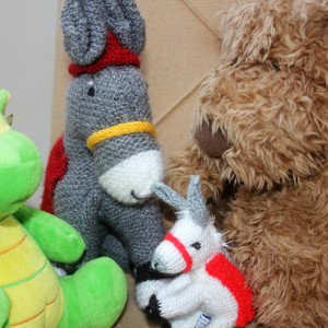 group of stuffed animals