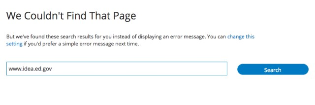 IDEA Website Error Page