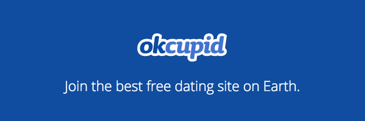 Photo of OKCupid's login page.