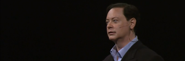 screengrab of andrew solomon giving his ted talk on depression