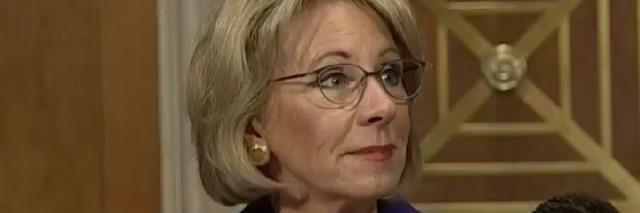 Betsy DeVos at Senate Confirmation Hearing
