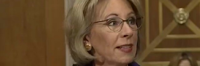 Betsy DeVos at confirmation hearing for Department of Education Secretary