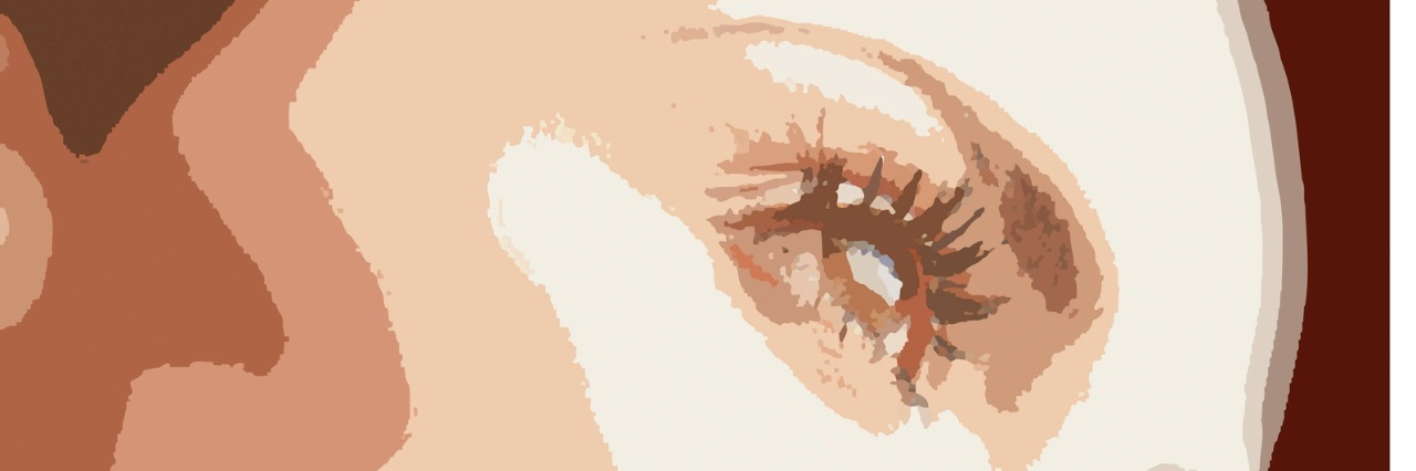 Side of woman's face illustration