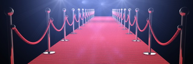 Red carpet for Academy Awards.