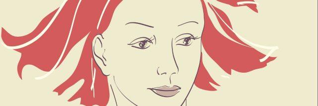 Beautiful woman face hand-drawn portrait illustration