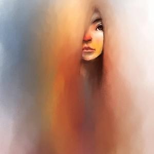 Watercolor of beautiful woman