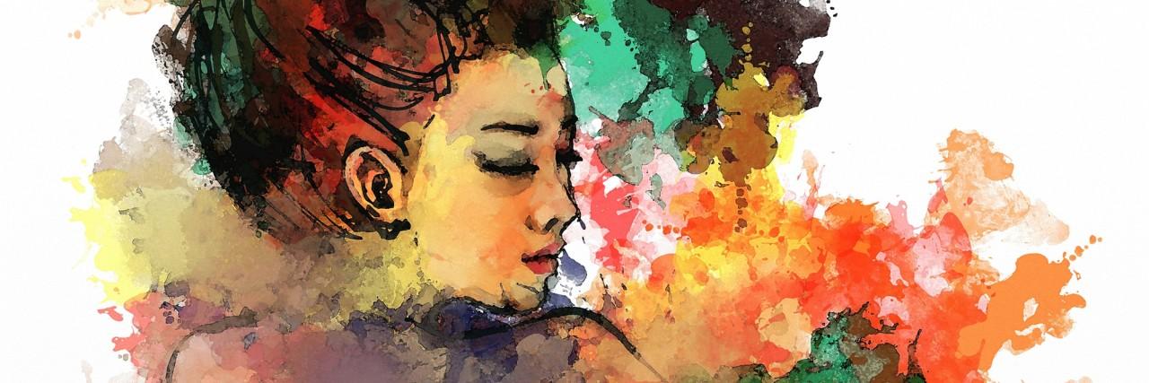 watercolor painting of beautiful girlpainting of beautiful girl
