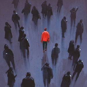 Person who sticks out from the crowd,