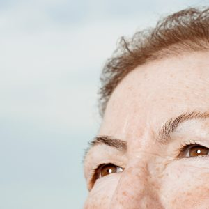 Detail of senior woman's face