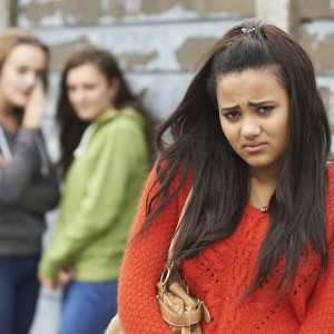 Bullying of a young woman.