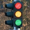 traffic light showing colors red, yellow, and green