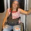 Beth on the subway.