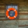 Life Ring or Life Buoy on Hut, for watersports and water safety.