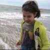 Katherine Erby's daughter on the beach.