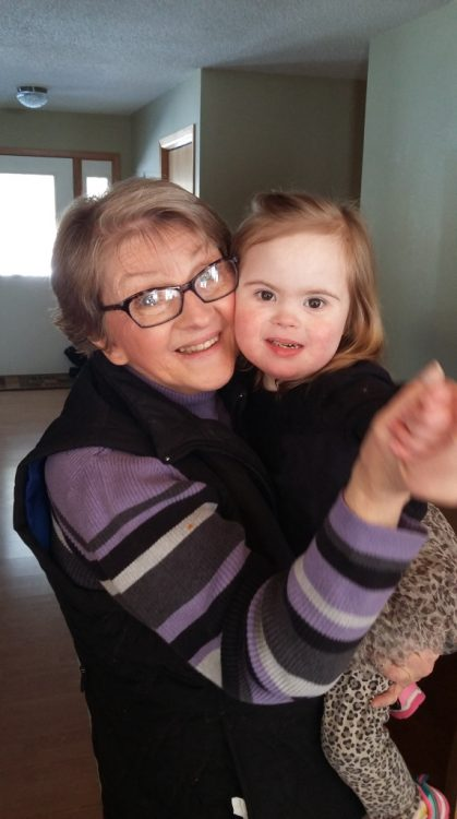 Willow dancing with her grandma.