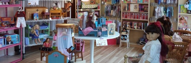 Girl AGain store filled with dolls and doll clothes