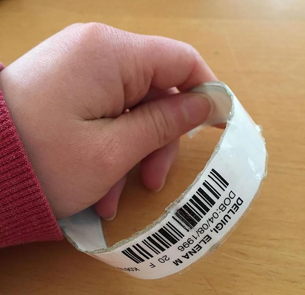 patient's armband