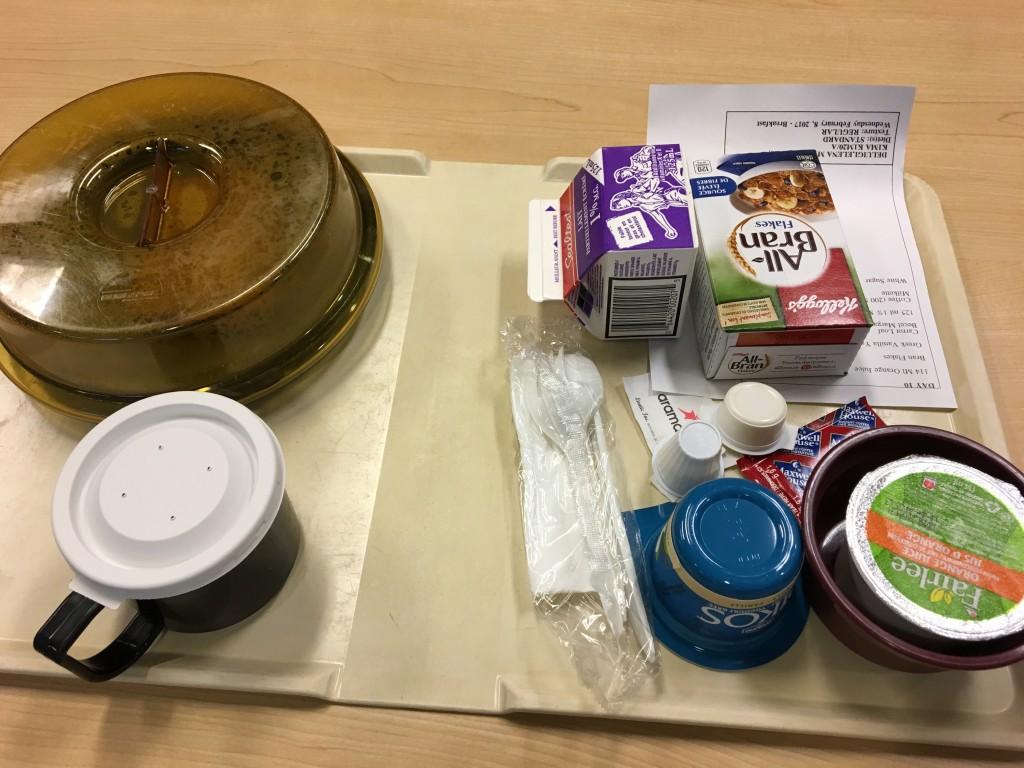 hospital food in psych ward