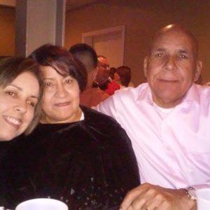 Juana with her parents.