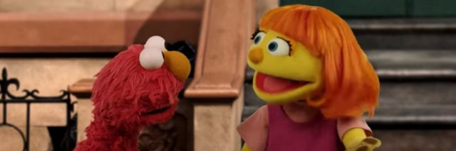 Julia and Elmo