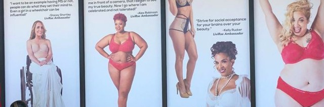 Livi Rae ads featuring models of different shapes and sizes
