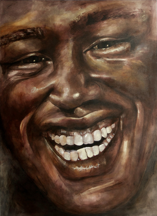 Painting of an African American man