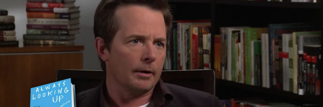 michael j. fox in an interview about his book 'always looking up: the adventures of an incurable optimist'