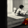 boy reading in bed in life animated