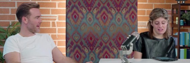 Carly Fleischmann interviewing James Van Der Beek