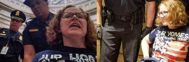 Stephanie Woodward getting arrested