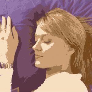 illustration of sleeping woman