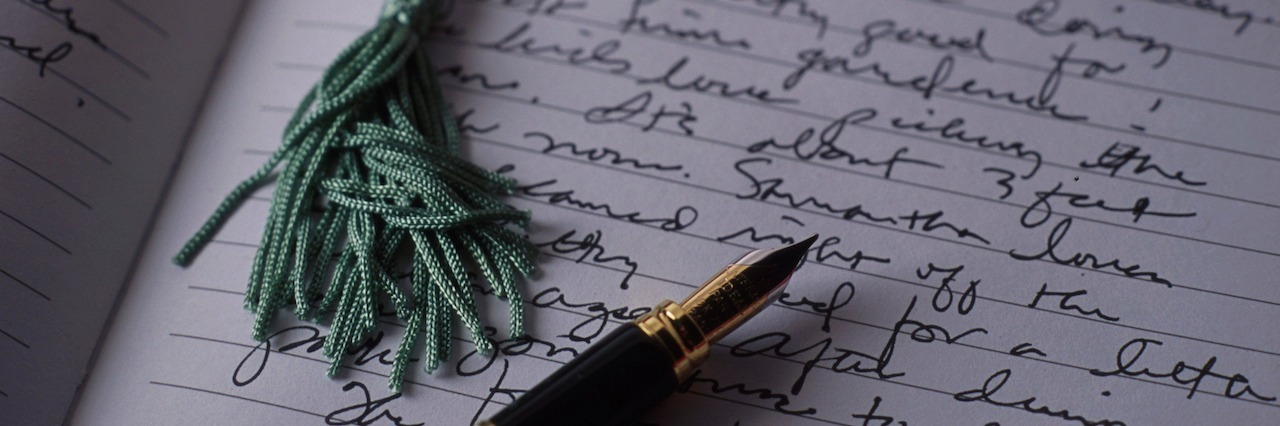 a journal and a pen