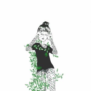 Illustration of a woman surrounded by ivy
