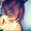 Short Hair Vintage Hipster Asian Girl. Short Hair Japanese Teenager sleeping on sofa. With copy space. Vintage Sepia color tone.