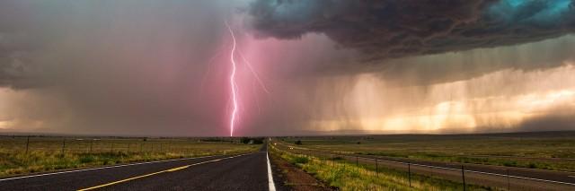 dark clouds in a thunderstorm