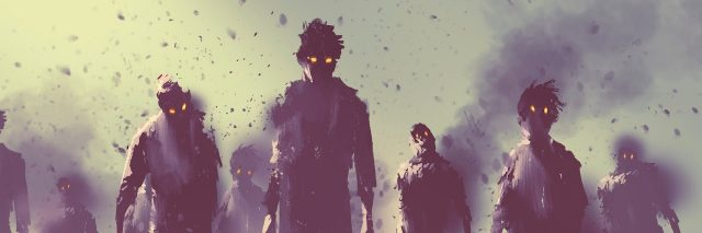 illustration of zombies