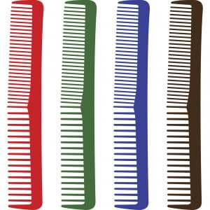 vector illustration of comb silhouette