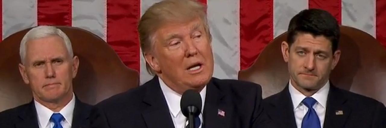 Donald Trump at Joint Address