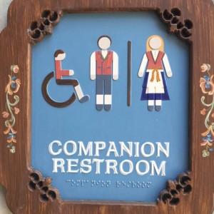 Companion restoom sign