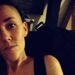 woman wearing black tank top
