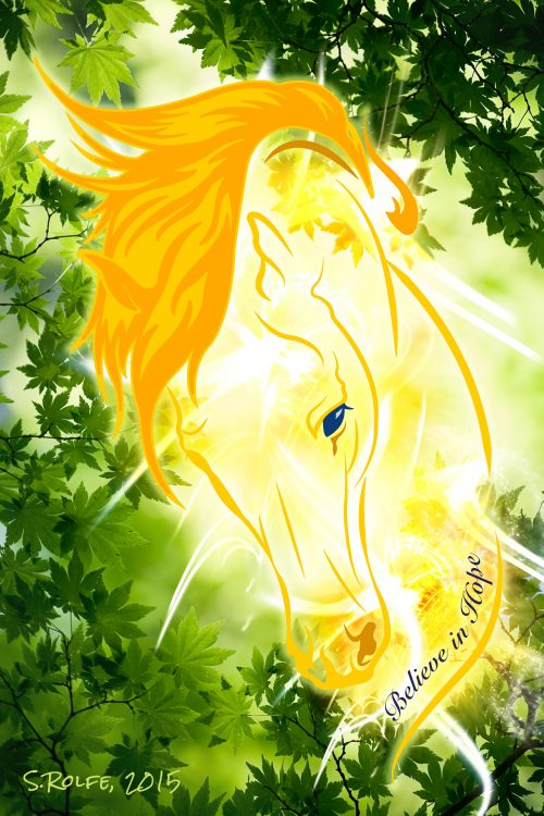 Yellow horse of hope
