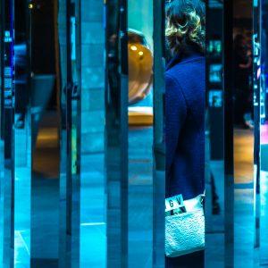 woman reflection split up multiple times