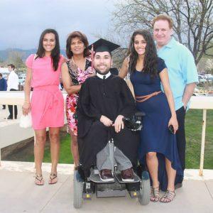 Joe with his family.