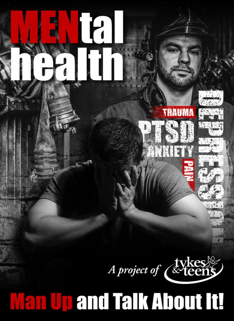 mental health poster from tykes and teens for mental health and suicide awareness in men
