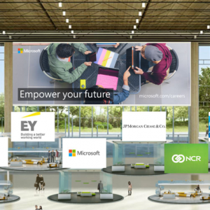 Promotional image for Microsoft's career fair.