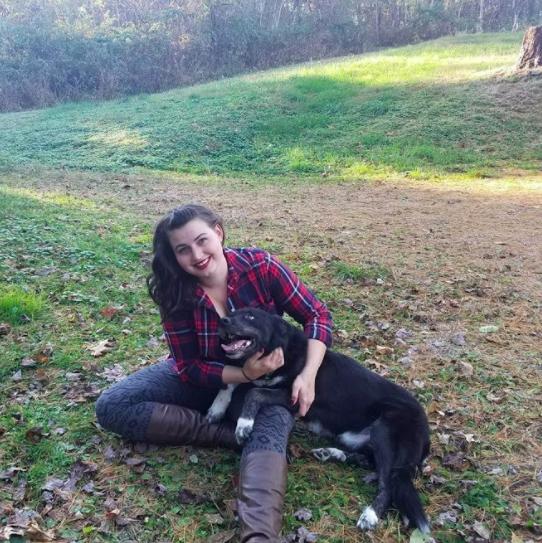 contributor and dog