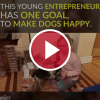 This Young Entrepreneur Has One Goal, To Make Dogs Happy.